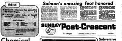 Zanesville Post Crescent newspaper archives