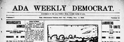 Ada Weekly Democrat newspaper archives