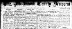 Mcintosh County Democrat newspaper archives