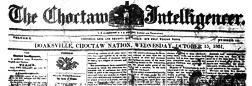Choctaw Intelligencer newspaper archives