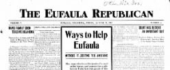 Eufaula Republican newspaper archives