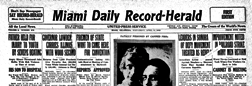 Miami Daily Record Herald newspaper archives