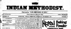 Indian Methodist newspaper archives