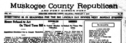 Muskogee County Republican newspaper archives