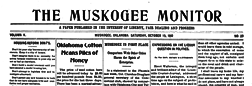 Muskogee Monitor newspaper archives