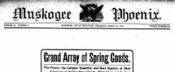 Muskogee Phoenix newspaper archives