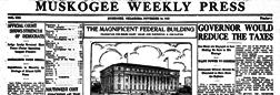 Muskogee Weekly Press newspaper archives