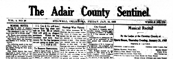 Adair County Sentinel newspaper archives