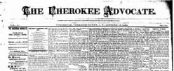 Cherokee Advocate newspaper archives