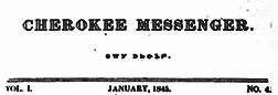 Cherokee Messenger newspaper archives