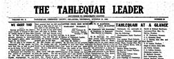 Tahlequah Leader newspaper archives