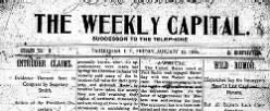 Weekly Capital newspaper archives