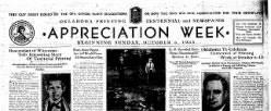 Appreciation Week newspaper archives