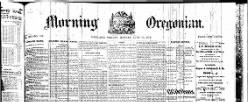 Morning Oregonian newspaper archives