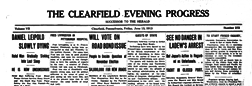 Clearfield Evening Progress newspaper archives