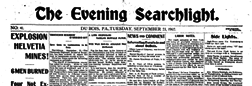 Dubois Evening Searchlight newspaper archives