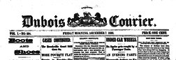 Dubois Morning Courier newspaper archives