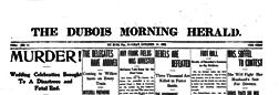 Dubois Morning Herald newspaper archives
