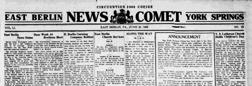 East Berlin News Comet newspaper archives