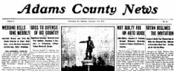 Adams County News newspaper archives