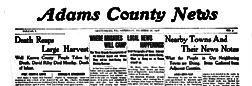 Gettysburg Adams County News newspaper archives