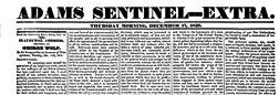 Gettysburg Adams Sentinel Extra newspaper archives