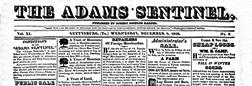 Gettysburg Adams Sentinel newspaper archives