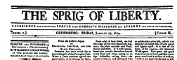 Gettysburg Sprig Of Liberty newspaper archives