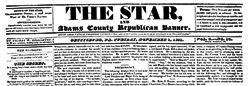 Gettysburg Star And Adams County Republican Banner newspaper archives