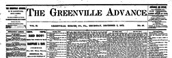 Greenville Advance newspaper archives