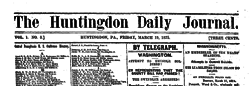 Huntingdon Daily Journal newspaper archives