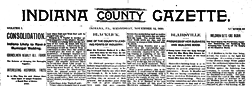 Indiana County Gazette newspaper archives