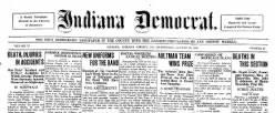 Indiana Democrat newspaper archives
