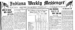 Indiana Weekly Messenger newspaper archives