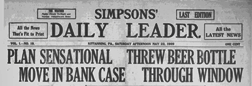 Kittanning Simpsons Daily Leader newspaper archives