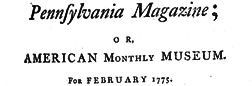 Philadelphia Magazine Or American Monthly Museum newspaper archives