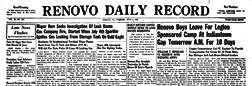 Renovo Daily Record newspaper archives