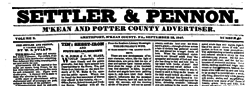 Settler And Pennon newspaper archives