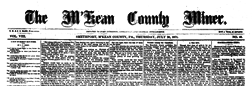 Smethport M Kean County Miner newspaper archives