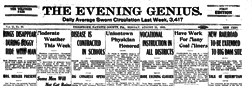 Uniontown Evening Genius newspaper archives