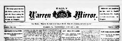 Warren Daily Mirror newspaper archives