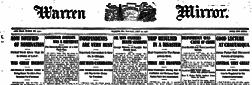 Warren Evening Mirror newspaper archives