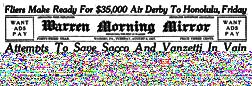 Warren Morning Mirror newspaper archives