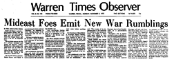 Warren Times Observer newspaper archives