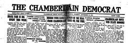Chamberlain Democrat newspaper archives