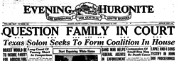Evening Huronite newspaper archives