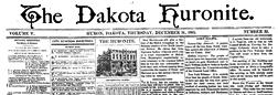 Huron Dakota Huronite newspaper archives