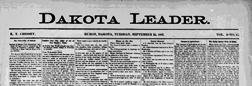 Huron Dakota Leader newspaper archives