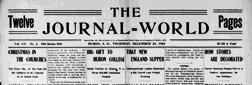 Huron Journal World newspaper archives