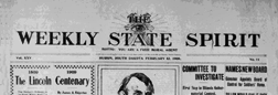 Huron Weekly State Spirit newspaper archives